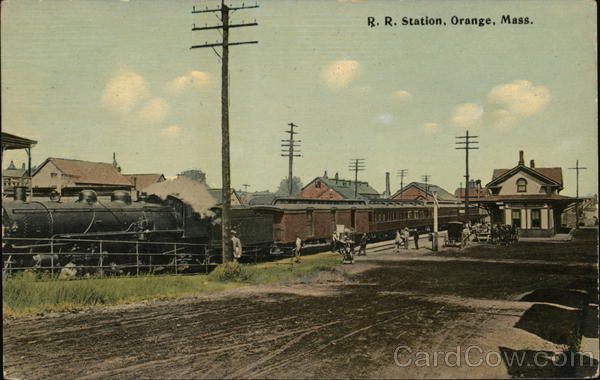 Rail Road Station Orange Massachusetts Depots