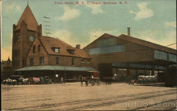 Train Sheds, N.Y.C. Depot Syracuse New York Depots
