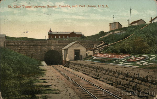 St. Clair Tunnel Between Sarnia and Port Huron Canada