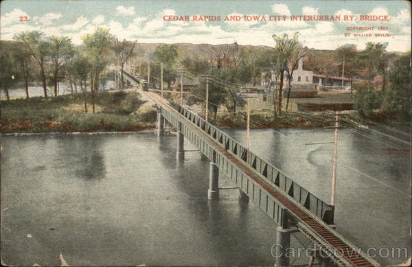 Cedar Rapids and Iowa City Interurban Ry. Bridge Railroad (Scenic)