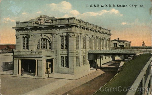 L.S. & B. & O.R.R. Station Gary Indiana Depots