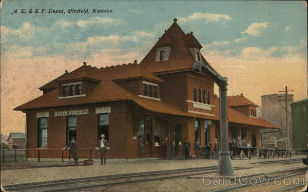AE & SF Depot Winfield Kansas Depots