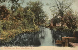 Mill Race from Elmer Lake Postcard