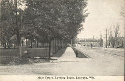 Main Street Looking South Postcard