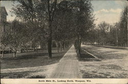 South Main Street Looking North Postcard
