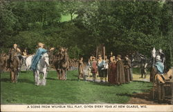 A Scene From Wilhelm Tell Play, Given Every Year