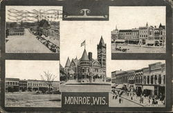 Views of the Town Postcard
