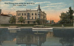 Hotel Elwood from across the Wolf River Postcard