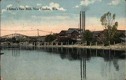 Hatten's Saw Mill Postcard