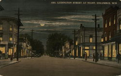 Ludington Street at Night