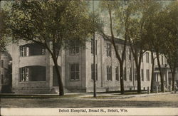 Beloit Hospital, Broad Street Postcard