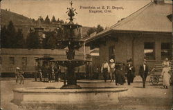 Fountain at Southern Pacific Depot