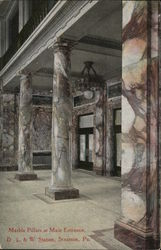 Marble Pillars at Main Entrance, D.L. & W. Station