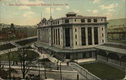 New Station, Lackawanna Railroad Postcard