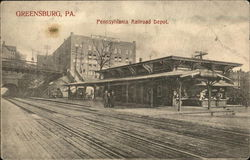 Pennsylvania Railroad Depot Postcard