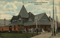 Erie Railroad Station and Motor Car