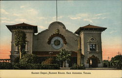 Sunset Depot, Sunset Route Postcard
