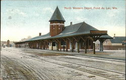 North Western Depot Postcard