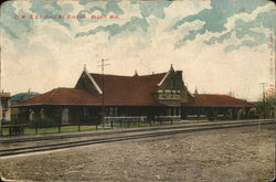 C M & St. Paul Ry. Station Postcard