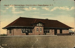 New N.Y.C. Railroad Depot, from Depot Street