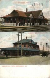 Big Four Depot and Illinois Central Depot