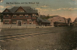 Big Four Station and Cut Postcard