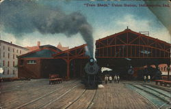 Train Sheds, Union Station Postcard