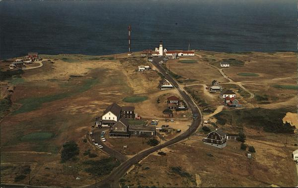 Aerial View of Highland Light, Cape Cod North Truro Massachusetts