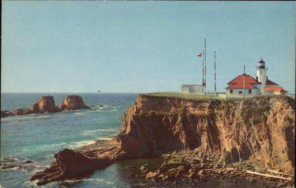 Scenic Cape Argo Light Coos Bay Oregon Lighthouses
