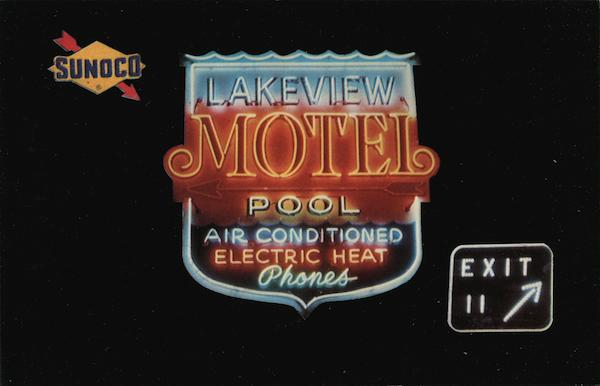 Lakeview Motel Sign North East Pennsylvania
