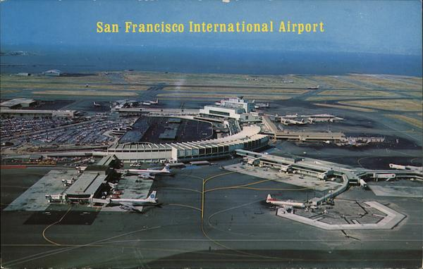 View of International Airport San Francisco California