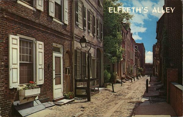 Elfreth's Alley Philadelphia Pennsylvania Wyco Color Productions