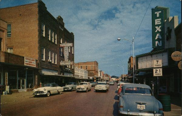 Main Street Looking West Nacogdoches Texas