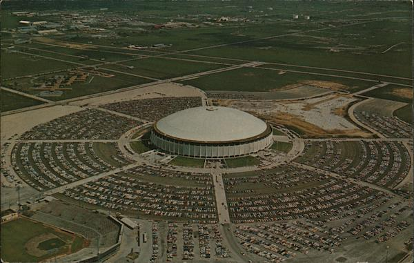 Aerial View of The Astrodome Houston Texas
