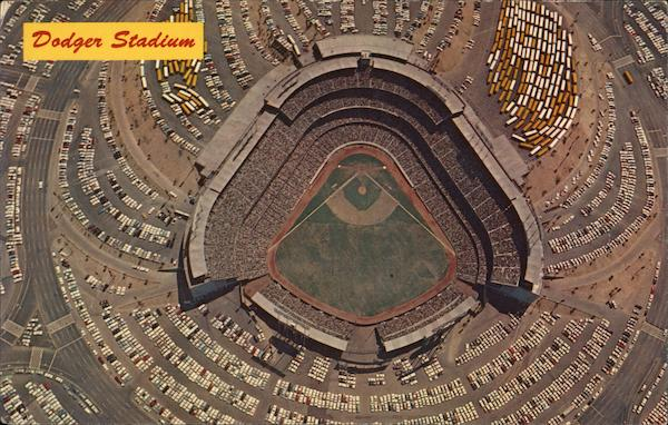 Ariel View of Dodger Stadium Los Angelos California