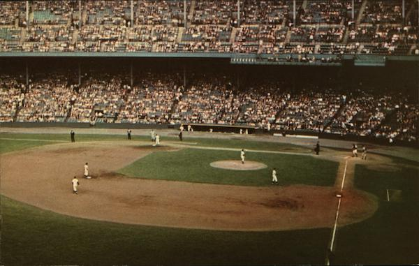 Cleveland Indians in Action at Municipal Stadium Ohio