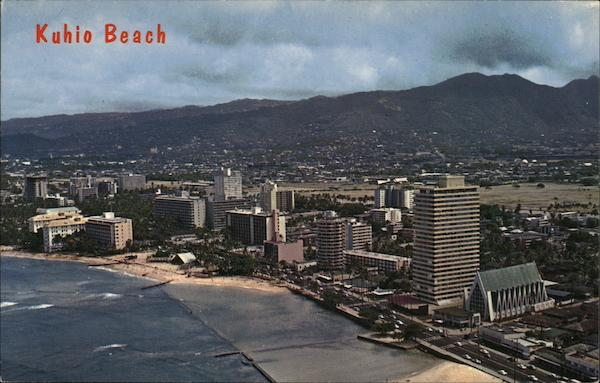 Aerial View of Kuhio Beach Waikiki Hawaii