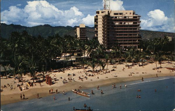 Hilton-Hawaiian Village As Seen by Hellicopter Honolulu