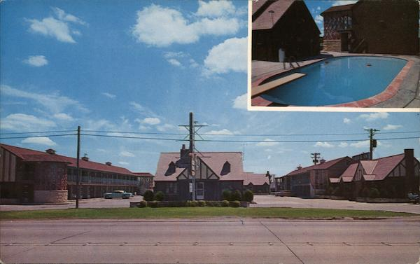 English Village Motor Lodge Wichita Ks Postcard