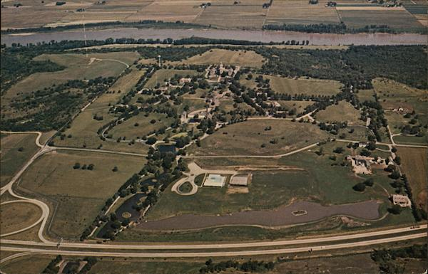 Aerial View of the West Campus of the Menninger Foundation Topeka Kansas