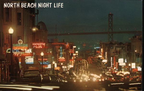 North Beach Night Life San Francisco California