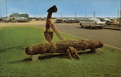 An Old Stock Anchor Used on Old Sailing Vessels