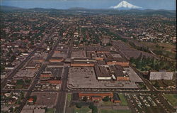 Aerial View of City and Mt. Hood