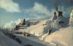 Mountains of Snow at Timberline Lodge