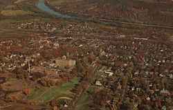 Aerial View of Sayre, Pennsylvania