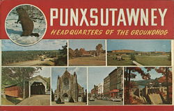 Punxsutawney, Headquarters of the Groundhog Postcard