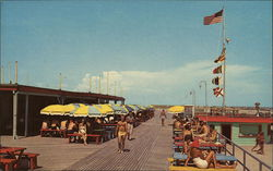 Enjoying the Sun on the Boardwalk, Stewart Beach Postcard