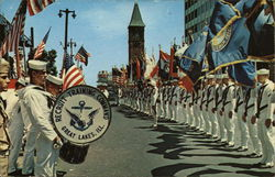 Navy Recruits Present Flag Ceremony Postcard