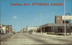 Greeting from Pittsburg, Kansas Postcard