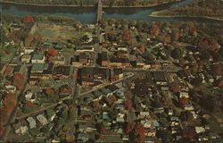 Aerial View of Town Postcard
